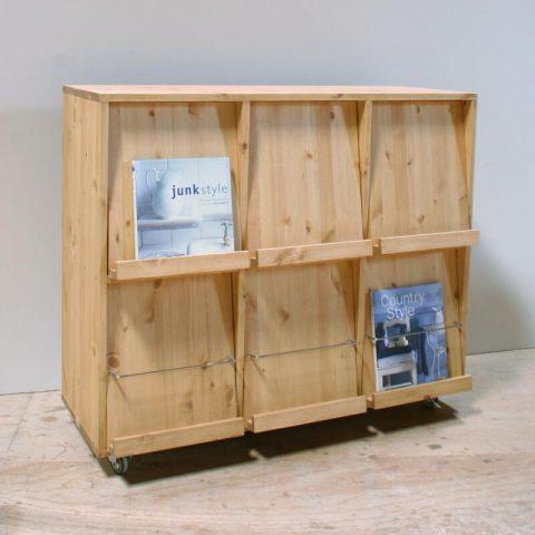 パイン家具、本棚・ディスプレイラック/okamoku